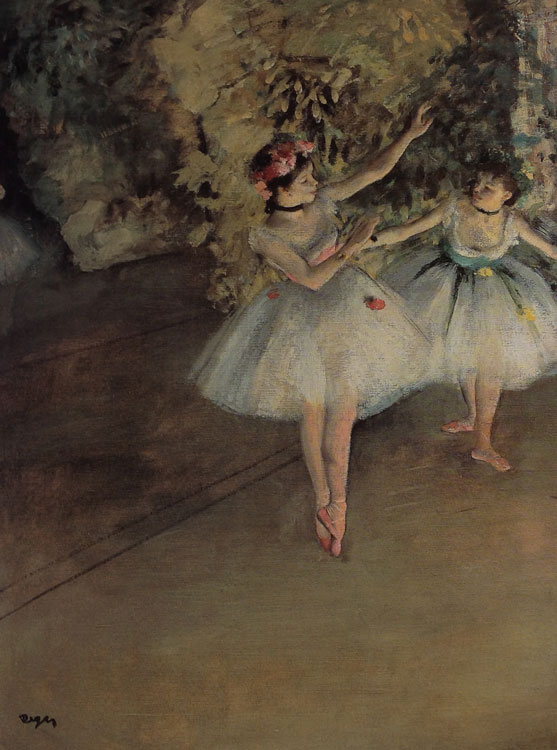 Two Dancers on the Stage, Degas
